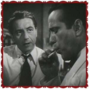 "Henreid with Bogart in Warner Bros 1942 hit, ""Casablanca""."