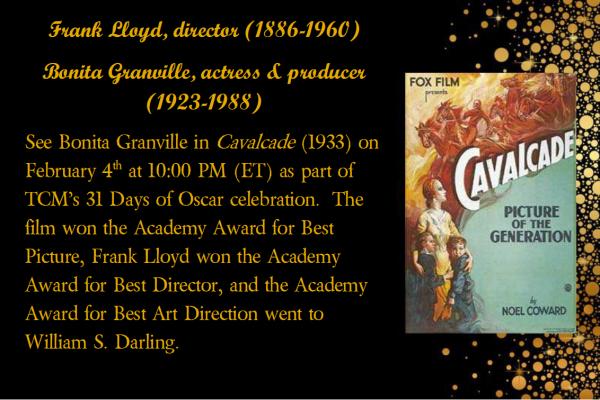 Frank Lloyd_Bonita Granville_Cavalcade