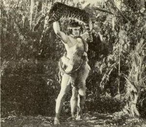 Still from the American film serial The Adventures of Tarzan (1921) with Elmo Lincoln